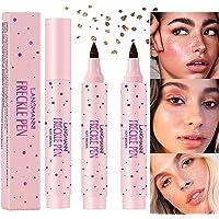 2Pcs Faux Freckle Pen Makeup Set - Magic Natural Effortless Sunkissed Fake Freckles Makeup Long Lasting Waterproof Freck…