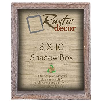 Amazoncom 8x10 3 Deep Reclaimed Rustic Barnwood Collectible