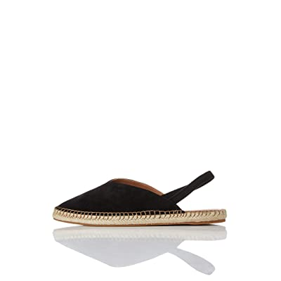 Amazon Brand - find. Women's Slingback Leather Espadrille Slip-On Shoe: Shoes