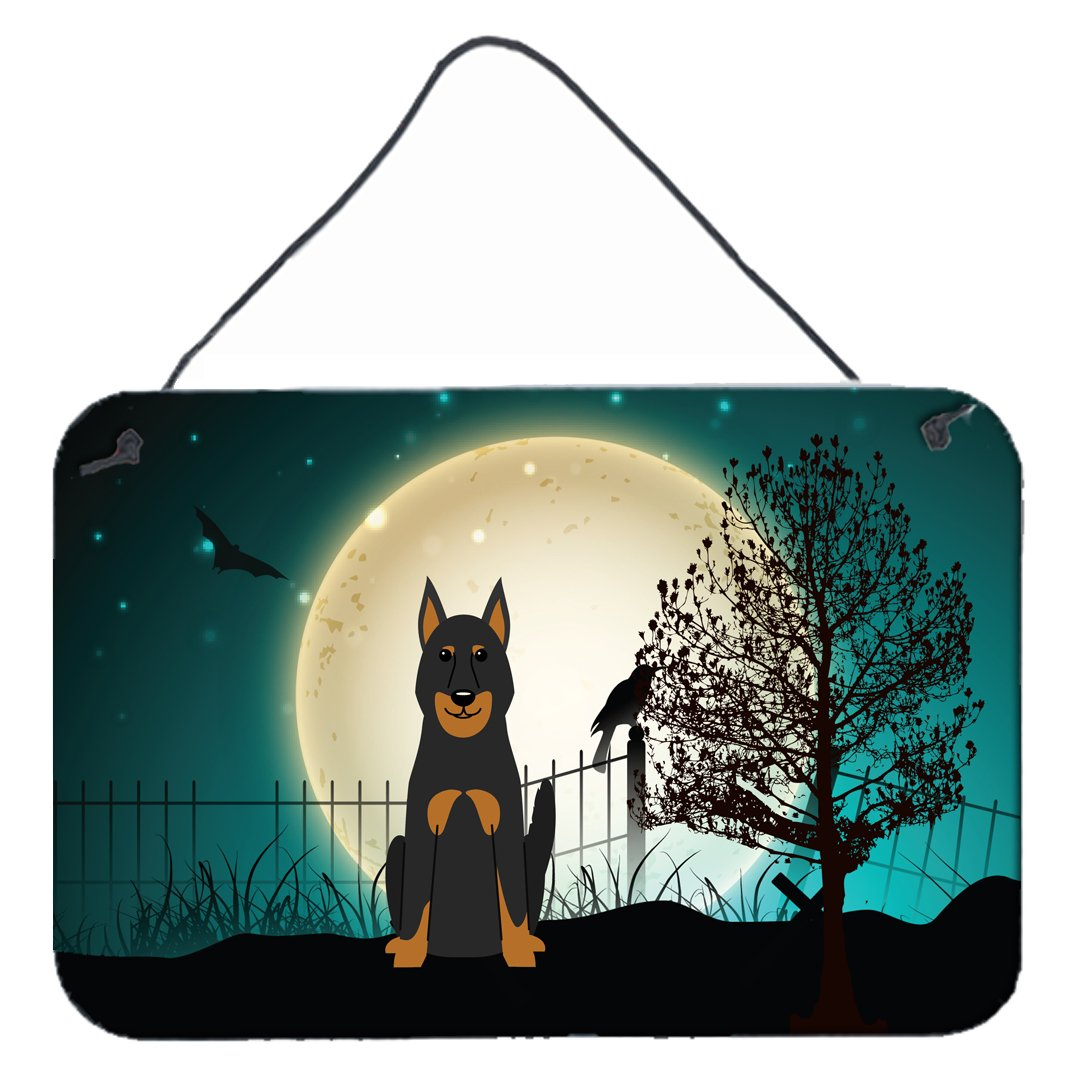 Carolines Treasures Halloween Scary Beauce Shepherd Dog Wall or Door Hanging Prints BB2270DS812 8 x 12,