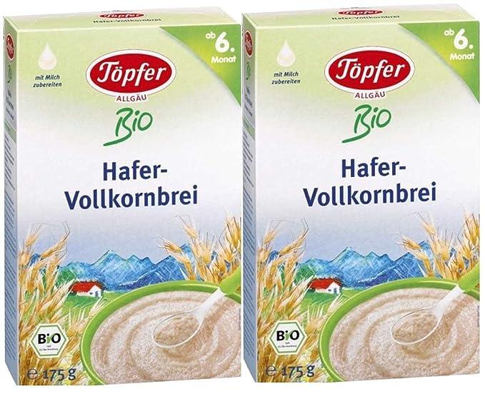 Töpfer Orgánica de avena integral, 2-pack (2 x 175 g)