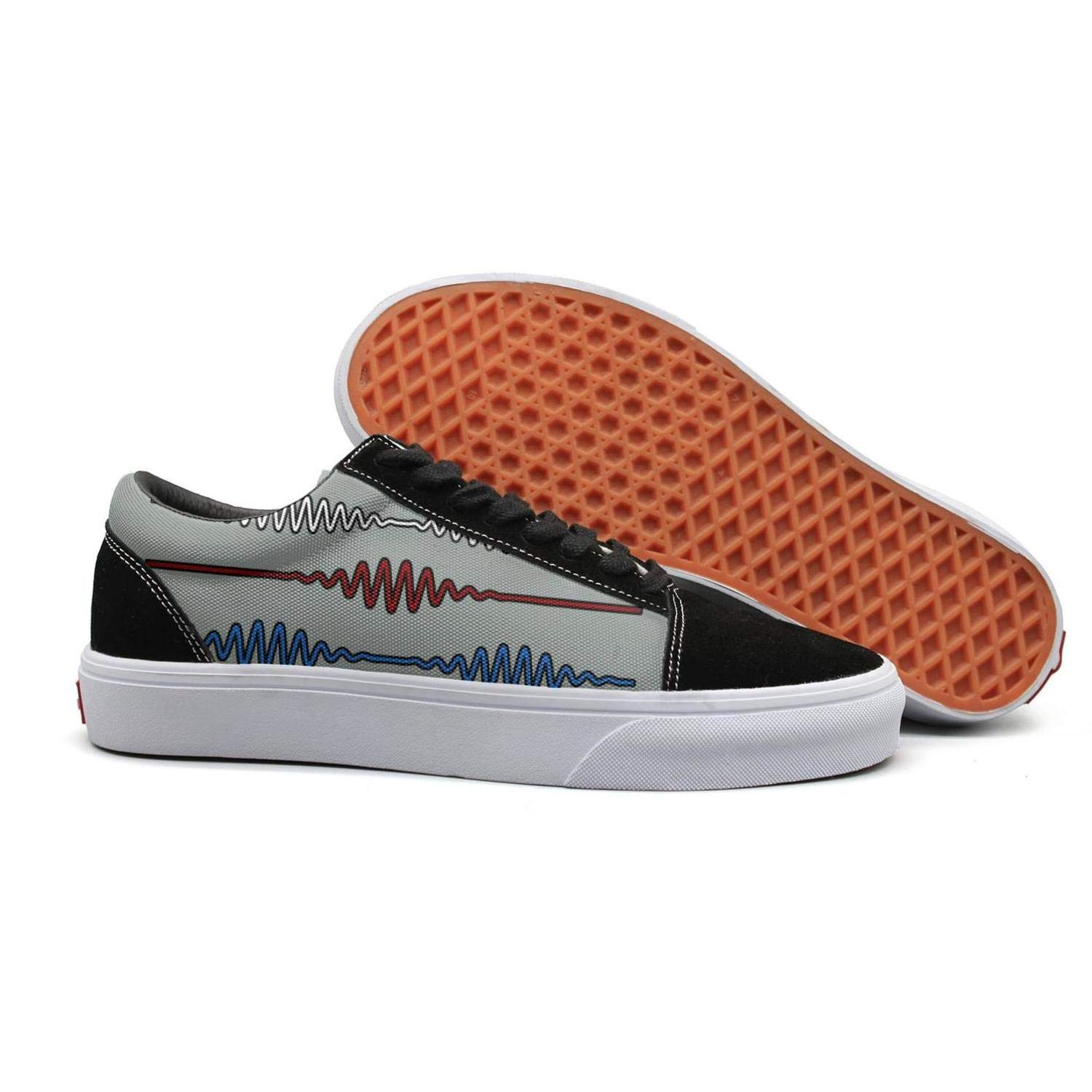 Shoe Womens Skate Sneaker for Womens Budge Leather Wear-Resistant Arctic-Monkeys-Do-I-Wanna-Know-Rig