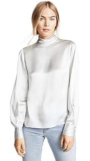 5640a165c6f975 Amazon.com  Vince Women s Mock Neck Blouse