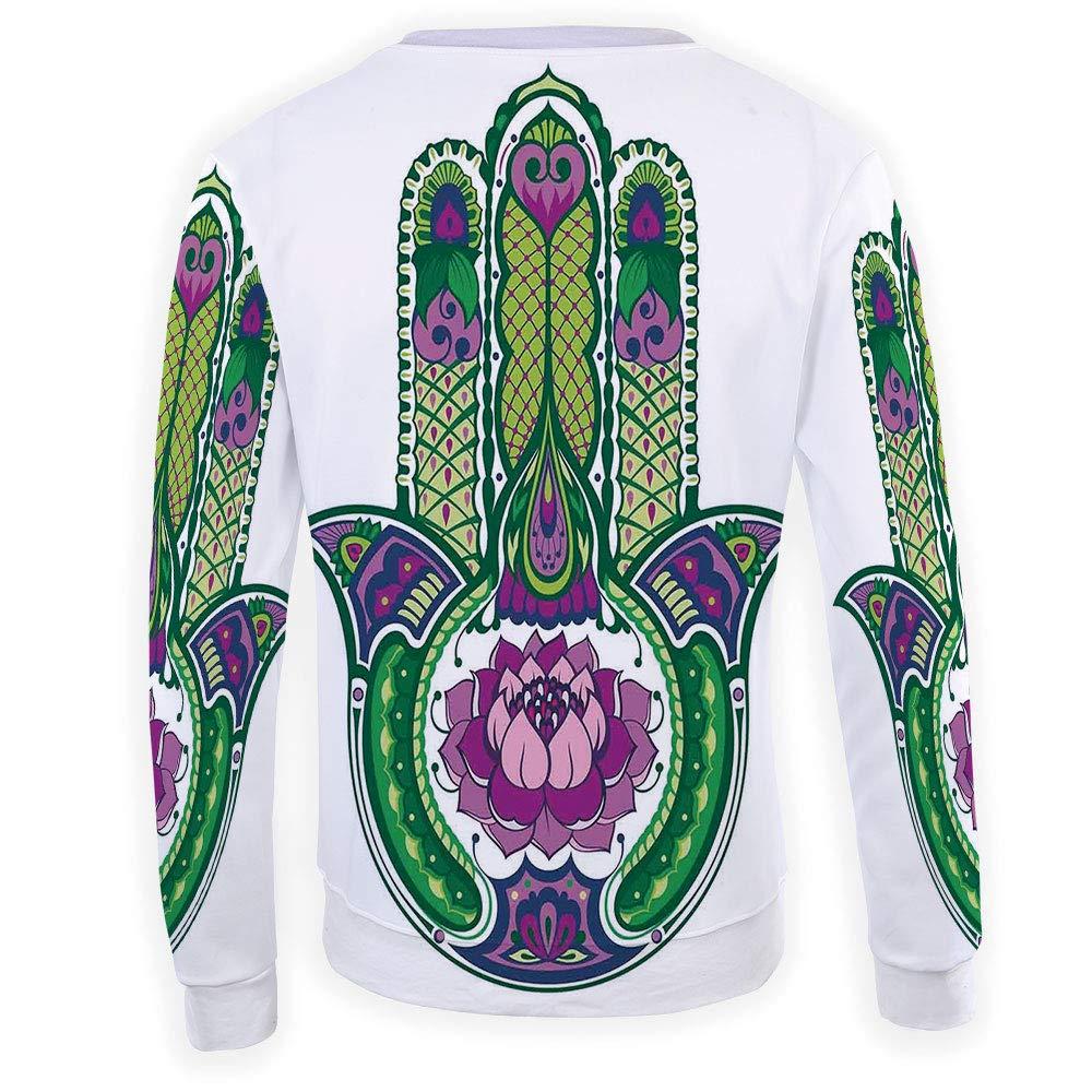 MOOCOM Adult Hamsa Crewneck Sweatshirt
