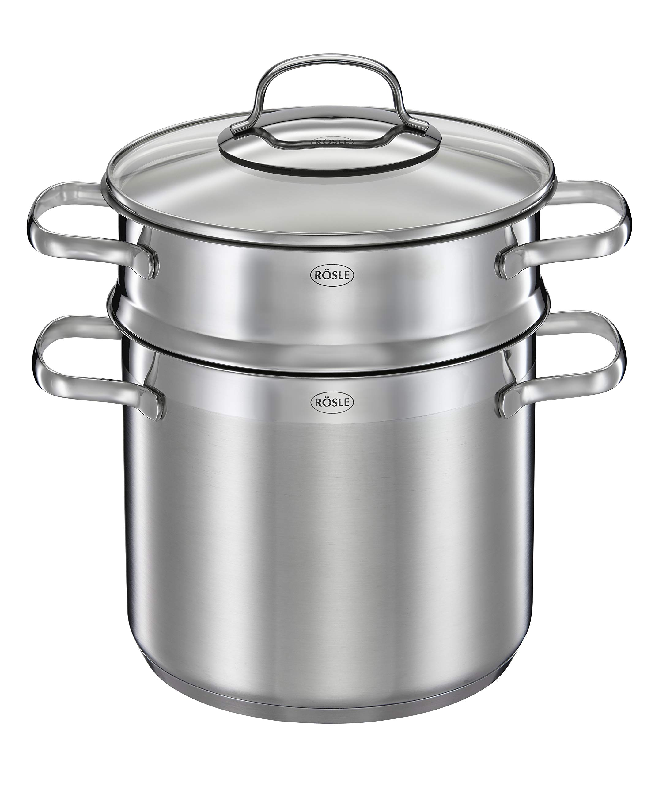 Rosle Stainless Steel Pasta Pot with Glass Lid, One Size