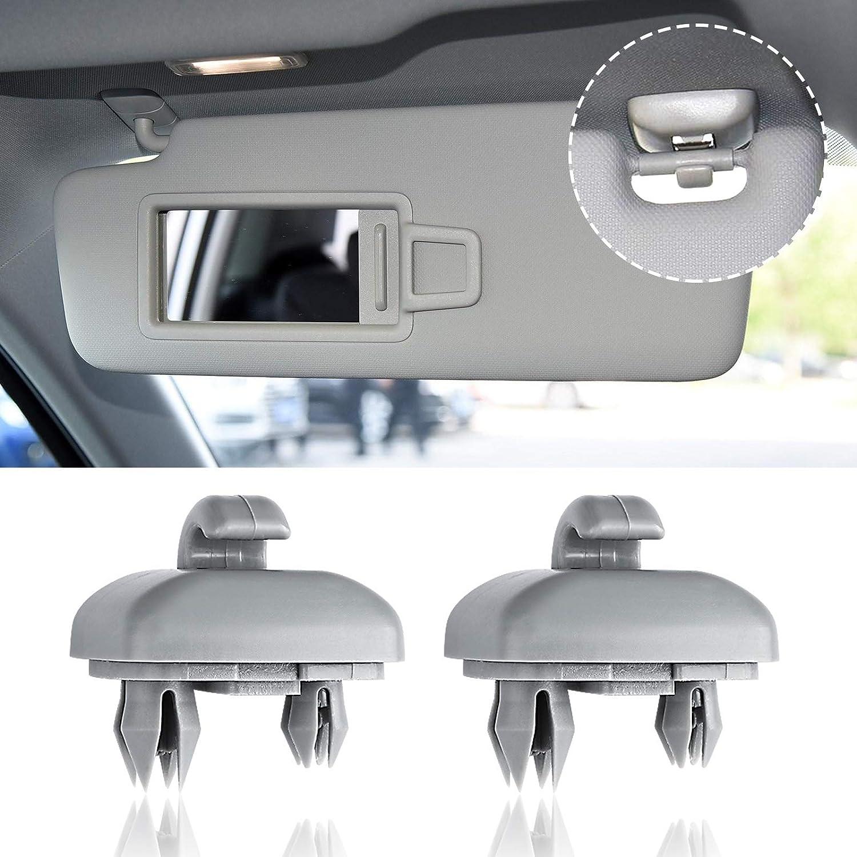 NEW OEM Genuine AUDI A4 A3 A5 TT Interior Sun Visor Hook Clip Soul Black Bracket