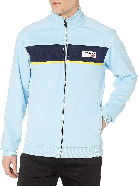 Invertir Cañón llevar a cabo  Amazon.com: New Balance Men's Athletics Track Jacket: Clothing