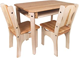 product image for Camden Rose Child's Cherry & Maple Wood Table and 2 Chairs, USA Made
