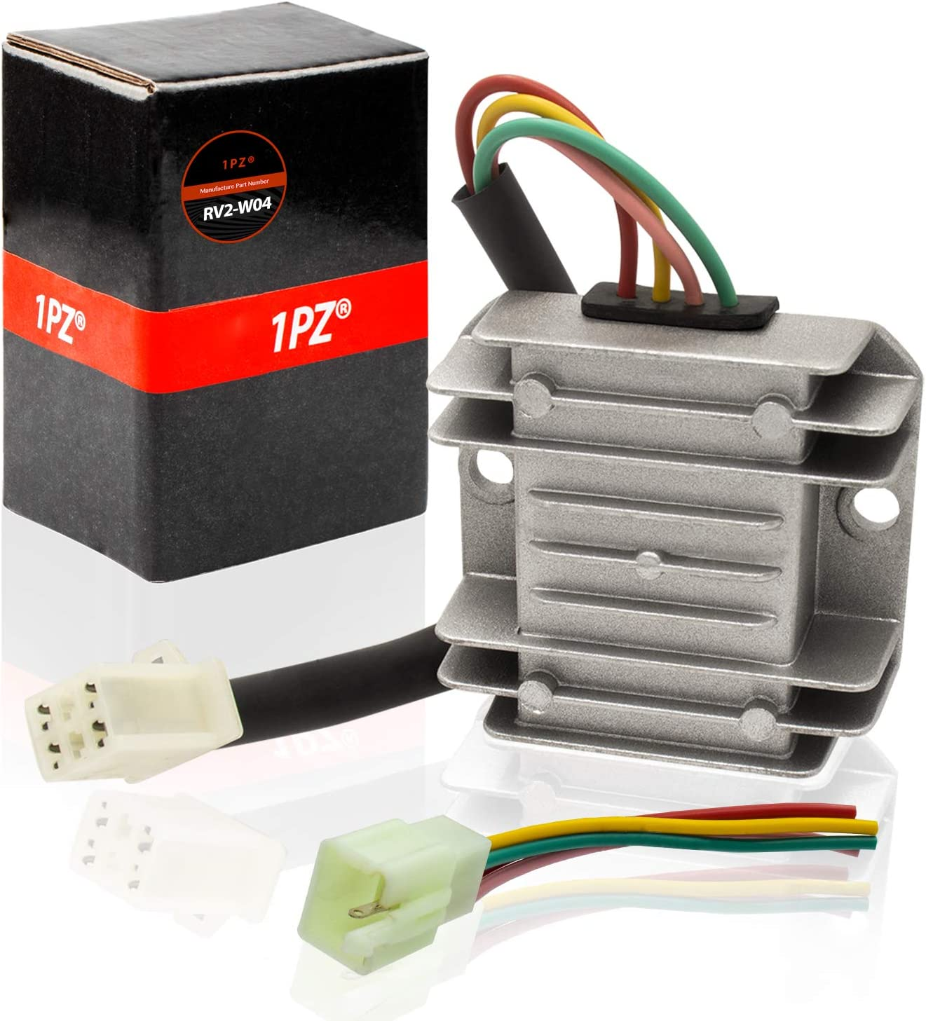1PZ RV2-W04 4 Wires Voltage Regulator Rectifier for Motorcycle Boat ATV GY6 50 150cc Scooter Moped JCL NST Taotao