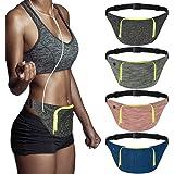 AIWENSI Extra Wide Running Belt, Adjustable Travel Money Belt Fit All Smartphones and Passport, Stylish Fitness Workout Belt Waist Pack for Men Women Runners