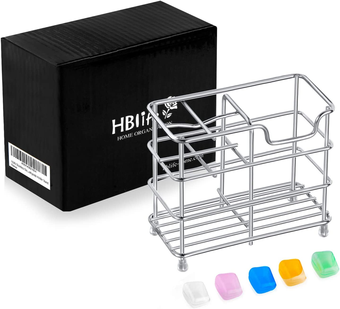 HBlife Stainless Steel Bathroom Toothbrush Holder Toothpaste Holder Stand, Silver: Home & Kitchen