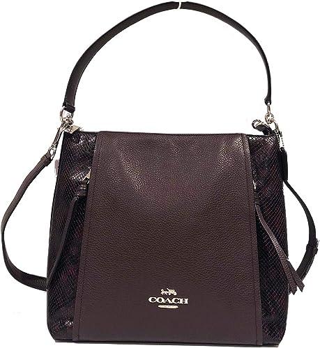 Coach Pebbled Leather Marlon Hobo Shoulder Handbag
