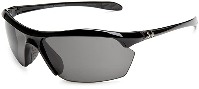 56680ce3ac Amazon.com  Under Armour Zone XL Shiny Black Frame   Gray Lens  Clothing