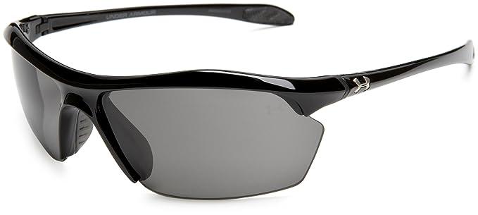 7da365d331 Amazon.com  Under Armour Zone XL Shiny Black Frame   Gray Lens  Clothing