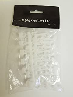 MGM 12 X Replacement Bathroom Shower Curtain Hooks Fits Glider Rail Tracks In White