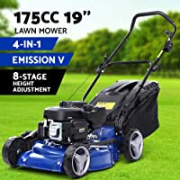 Giantz Lawn Mower 4-Stroke 19'' Petrol Powered Push Lawnmower 175cc 4-in-1