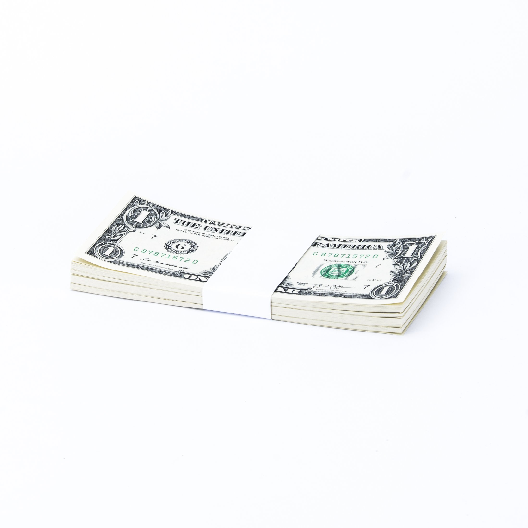 White No Denomination Currency Band Bundles (1,000 Bands) by Carousel Checks Inc.