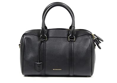 ba30da9bd6f5 Bowling Bags Burberry Women Leather Black 3939634 Black 15x20x32 cmUK   Amazon.co.uk  Shoes   Bags