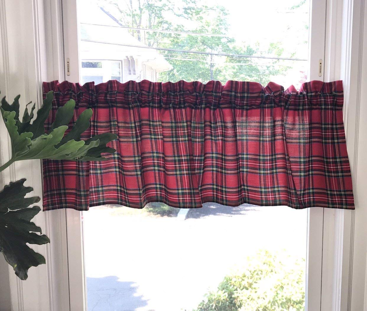 Red Plaid Valances Window Treatments