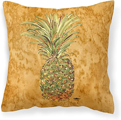 Caroline's Treasures 8654PW1414 Pineapple Decorative Canvas Fabric Pillow