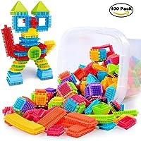 Sannysis 3D Bristle Shape Building Blocks Tiles Construction Playboards Toddlers Kids Toys