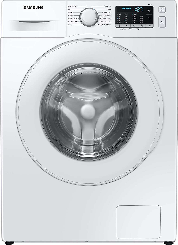 Samsung Series 5 WW70TA046TE/EU with ecobubble™ Washing Machine, 7 kg 1400 rpm, White, B Rated