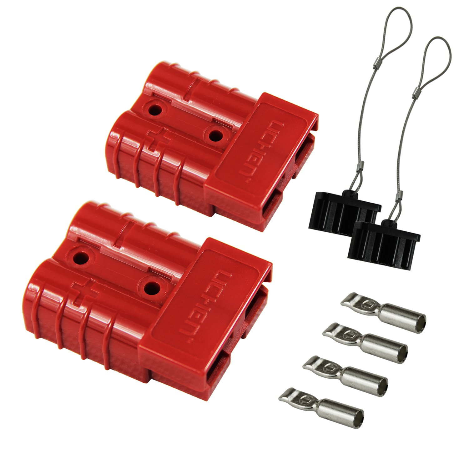 Hyclat Red 6 10 Gauge Battery Quick Connect Disconnect Wiring Harness On Trailer Wire Plug Connector Recovery Winch Automotive