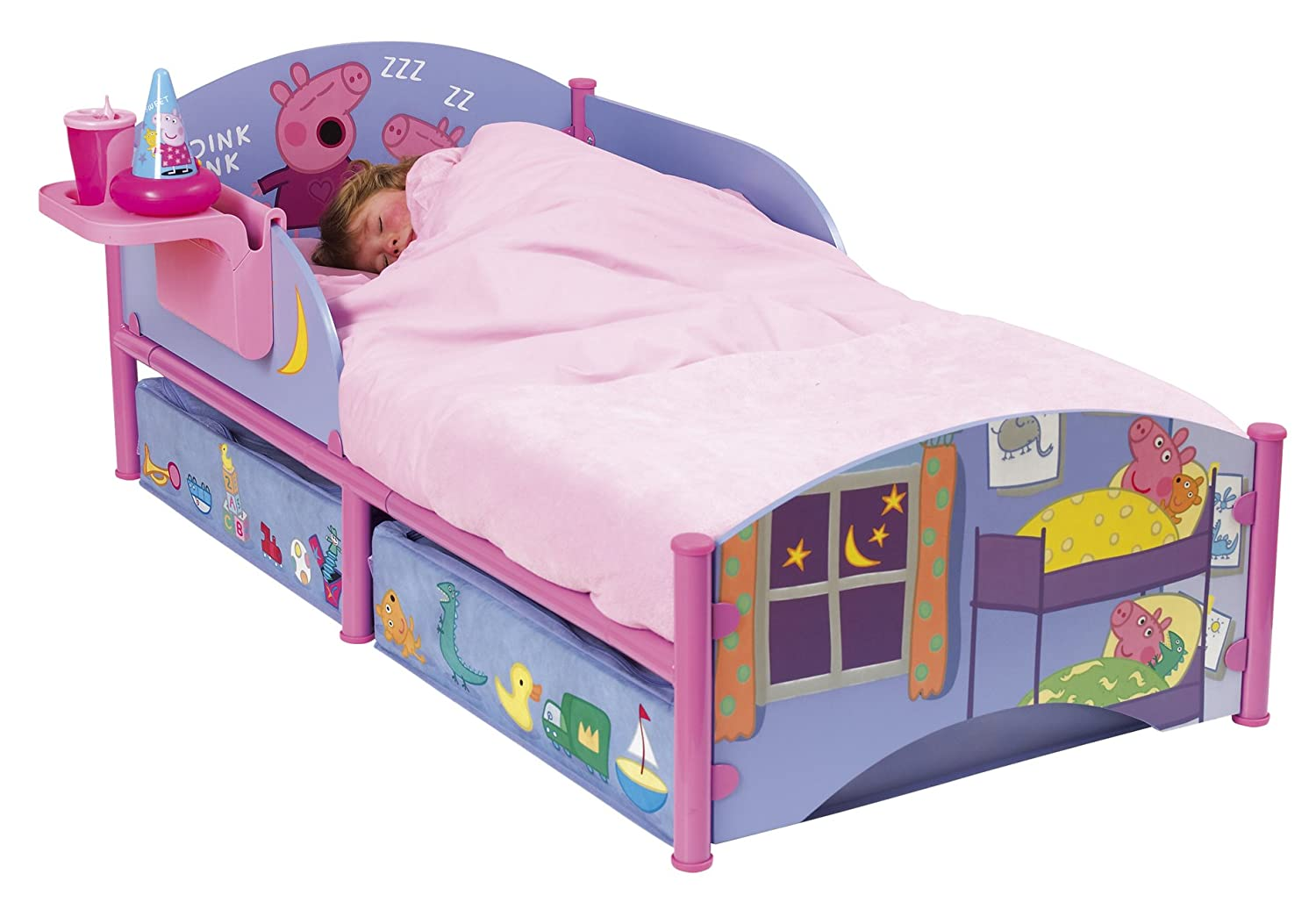 Peppa Pig Bedroom Decor Peppa Pig Toddler Bed Amazoncouk Kitchen Home