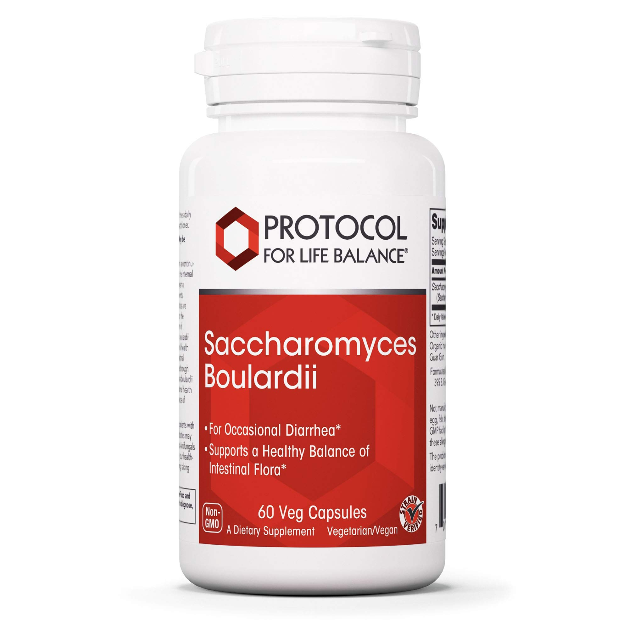 Protocol For Life Balance - Saccharomyces Boulardii - Supports a Healthy Balance of Intestinal Flora, GI Tract Relief, Upset Stomach, Immunity, Digestion, and Gut Health - 60 Veg Capsules