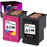 ColoWorld Remanufactured 61XL Ink Cartridges Combo Pack Replacement for HP 61XL 61 XL use with OfficeJet 2622 Envy 4500 5530 5534 Deskjet 3050 3050A 3060 3000 3054 1051 Printer (1 Black, 1 Tri-Color)