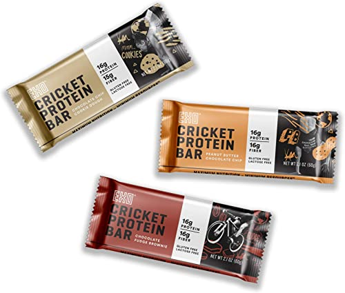 Exo Protein Bars, Variety Pack, 12 Count, 16g Protein, Gluten Free, High Fiber, Dairy Free Energy Bar