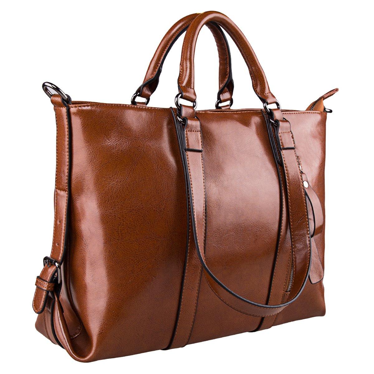 261e8f82959b S-ZONE 3-Way Women Genuine Leather Shoulder Bag Work Tote Handbag ...