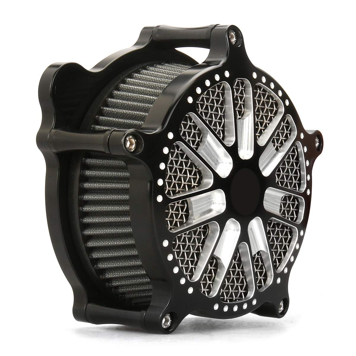For harley dyna Black AIR CLEANER softail heritage FLST air intakes 93-15,Air cleaner for harley touring 2000-2007   B07MDCPGH9
