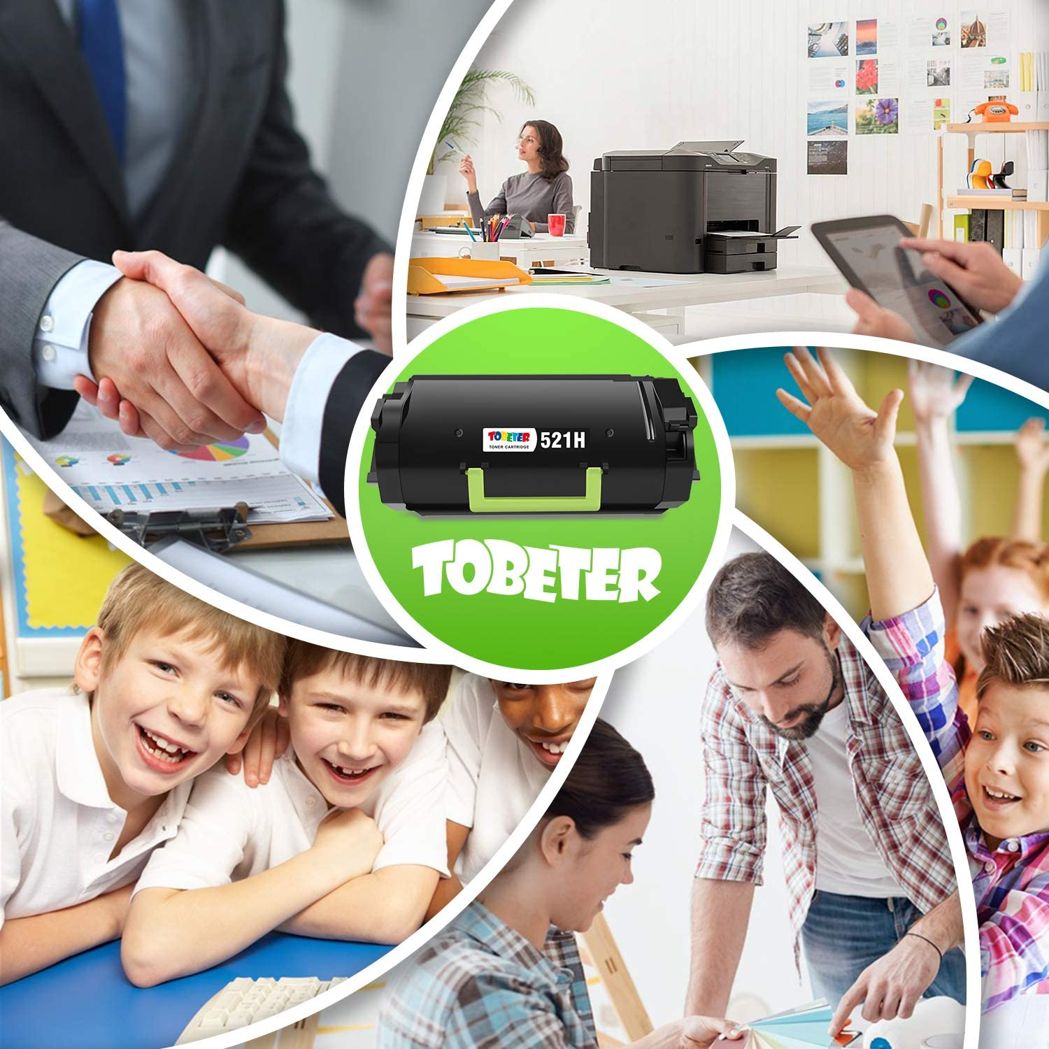 MS812 Printer ToBeter 521H 52D1H00 High Yield Compatible Toner Cartridge for Lexmark MS710 MS711 MS810 up to 25,000 Pages MS811