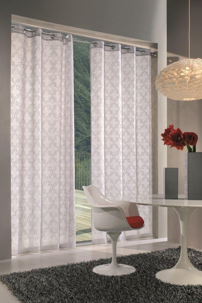 140x280 cm Poliestere Home Collection IVY115 Tenda Ivy Bianco