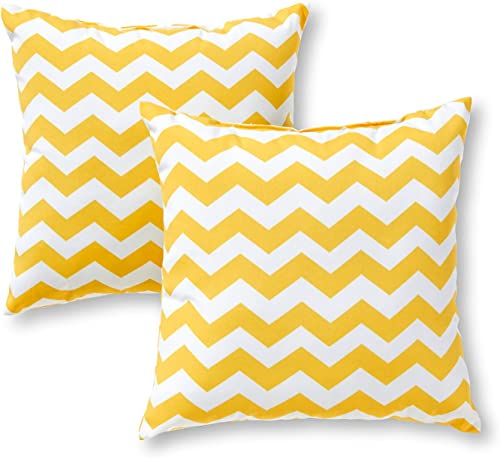 Greendale Home Fashions 17 in. Outdoor Accent Pillow set of 2 , Zigzag