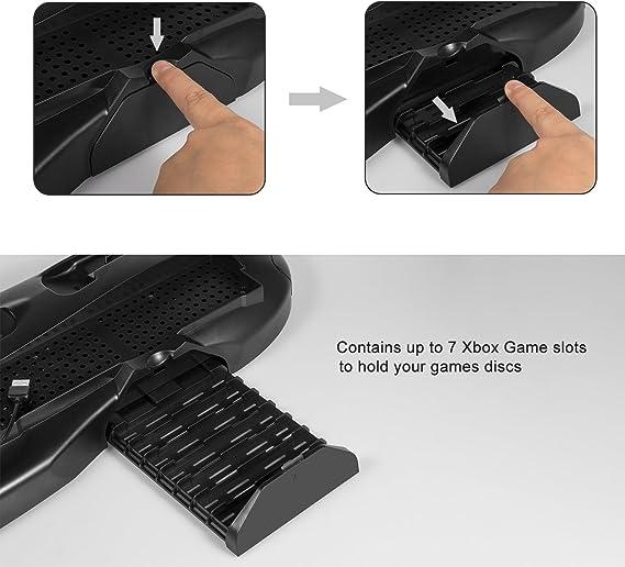 Keten Soporte Xbox One X Soporte Vertical para Xbox One X con Ventilador de Refrigeración y Estación de Carga de Mandos, Almacenamiento de Juegos, Accesorios de Xbox One X: Amazon.es: Electrónica