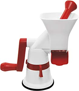 Weston Fruit & Tomato Press, 3 Cup Capacity, Red and White 67-1101-W