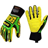 Seibertron HIGH-VIS SDXC5 Mechanics Cut5 Impact Cut Puncture Resistant Gloves Oil and Gas/Oilfield Safety Gloves CE…
