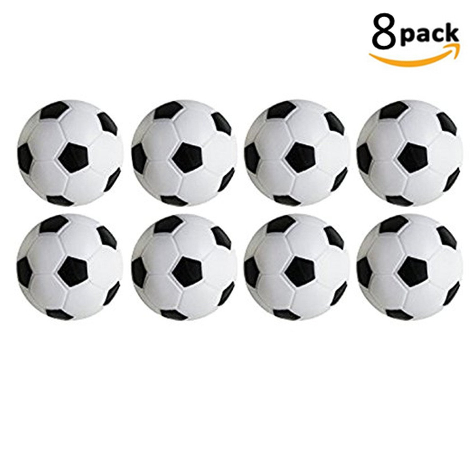 WIN Table Soccer Foosballs Replacements Black and White Soccer Balls Set Of 8 PCS