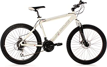 KS Cycling Heed 255B - Bicicleta de montaña, color blanco, talla L ...