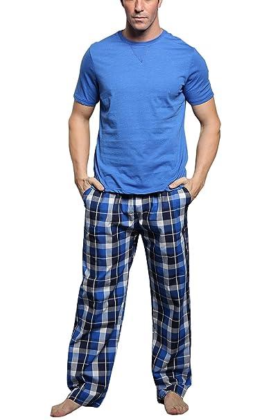 Dolamen Pijamas para Hombre Algodón, 2018 Hombre Pantalones de Pijama Largos Primavera Suave y Suave