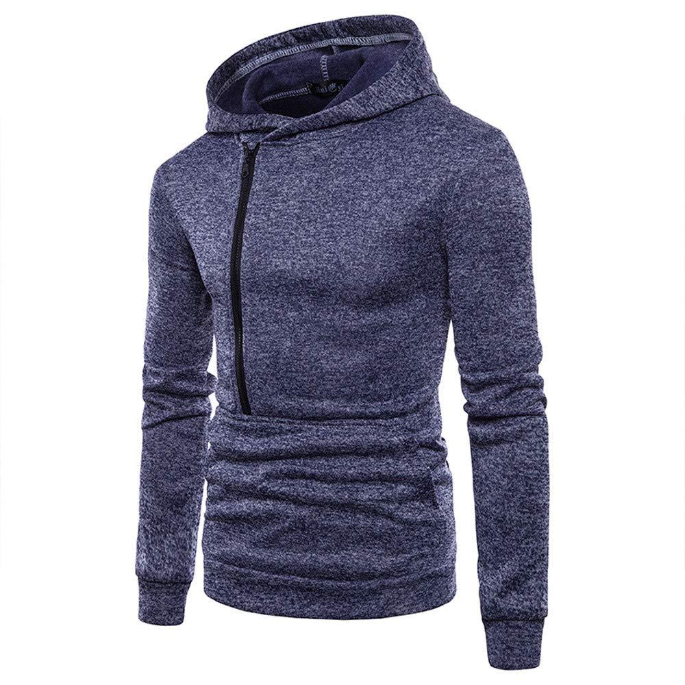 PANPANY-Ropa Hombre Mejor Venta de Cremallera suéter de los Hombres con Cremallera Sudadera con Capucha Camisa suéter Camiseta Top: Amazon.es: Ropa y ...