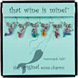Mermaid's Tale Wine Charms Set of 6, Painted