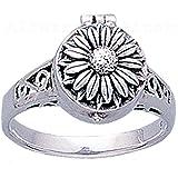 Alterras - Ring: Giftring Blume aus 925-Silber
