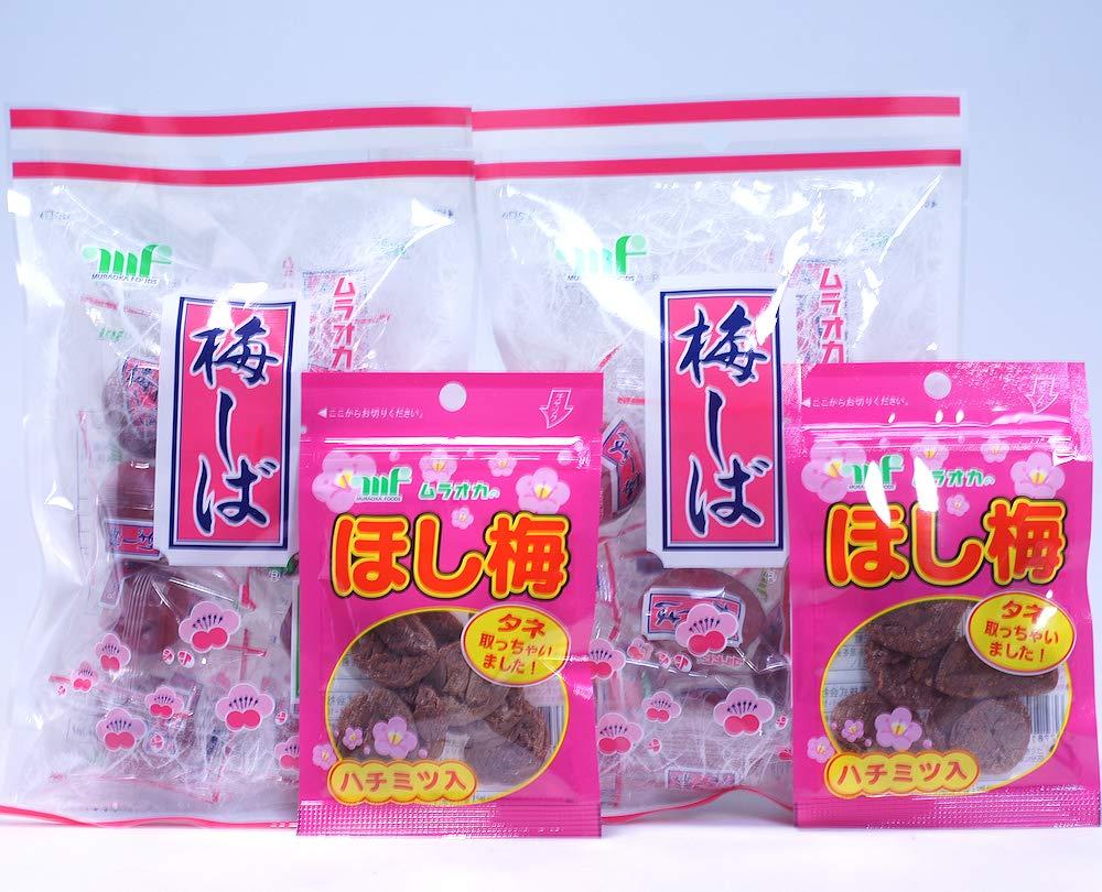 Umeshiba Pickled Plum Japanese Umeboshi Snack (2 Crunchy & 2 Dried Pickled Plum)