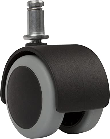 """4 PACK Rubbermaid Office Chair Caster Wheels 1.5/"""" Friction-Grip Stem M13B0300"""