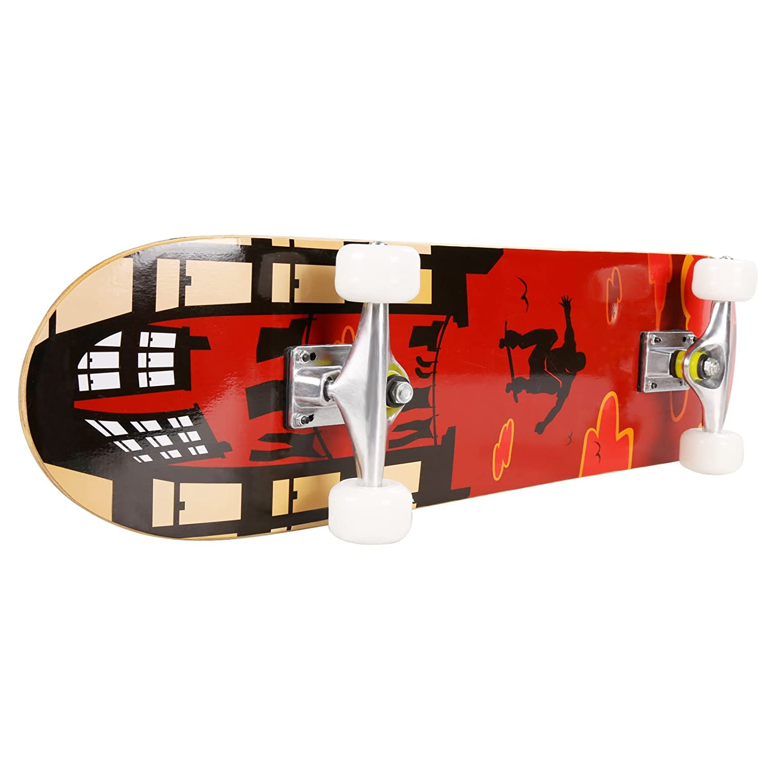 Hikole Skateboard – 31 x 8 Complete PRO Skateboard – Double Kick 9 Layer Canadian Maple Wood Adult Tricks Skate Board for Beginner, Birthday Gift for Kids Boys Girls 5 Up Years Old