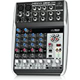 Behringer Q802USB Xenyx Premium 8-Kanal 2-Bus Mixer mit Mic Preamps/Kompressoren/British EQs und USB/Audio Interface