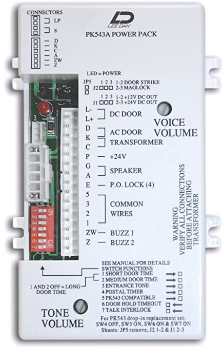 amazon com lee dan pk 543a 5 4 3 wire apartment intercom amplifier rh amazon com tektone ir204e wiring diagram TekTone Wire and Installation